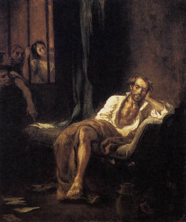 Eugène Delacroix- Tasso nella casa dei pazzi- 1839