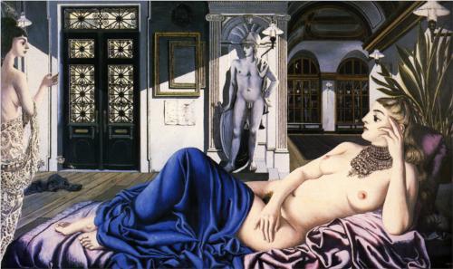 Paul Delvaux- Elogio della malinconia- 1948
